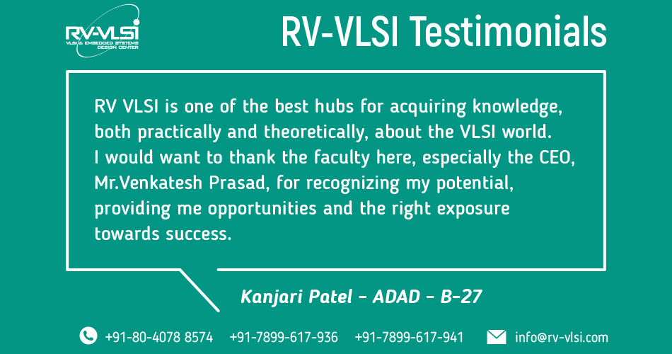 Rv Vlsi Vlsi And Embedded Training Institute In Bangalore